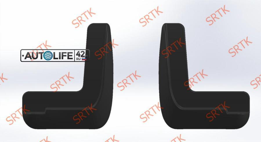 Брызговики резиновые для Hyundai Solaris (2010-2017) Передние