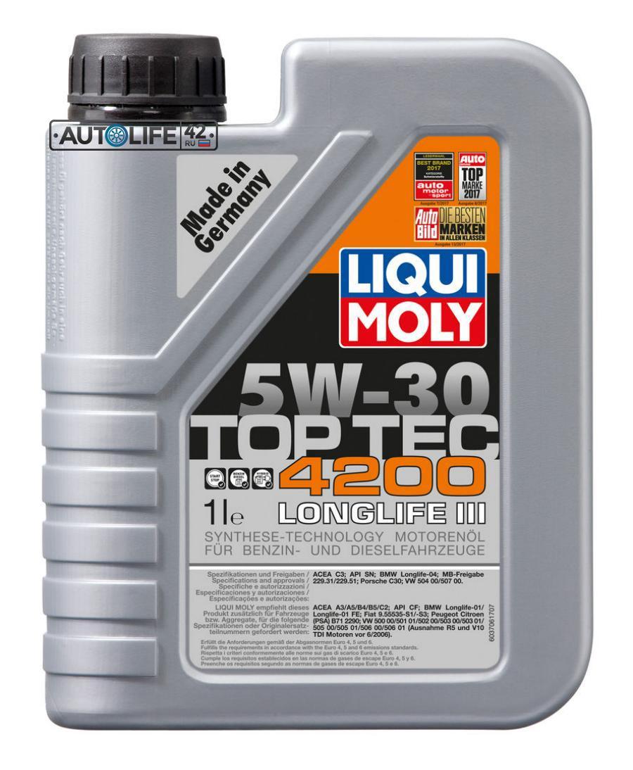 Масло моторное синтетическое Top Tec 4200 5W-30, 1л