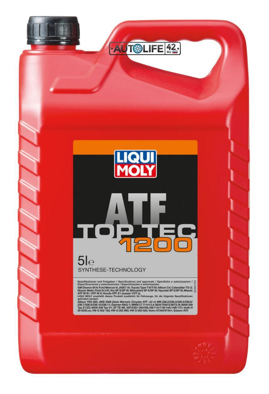 Масло трансмиссионное полусинтетическое Top Tec ATF 1200, 5л