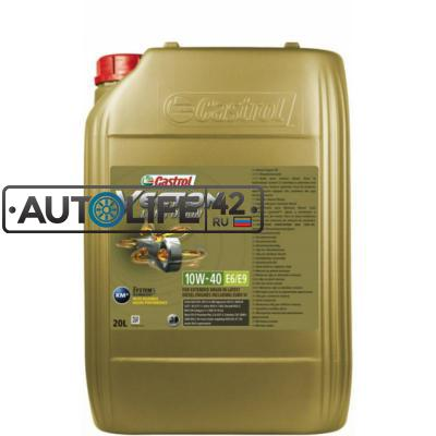 Моторное масло Castrol Vecton Long Drain 10W-40 E6/E9 синтетическое, 20 л