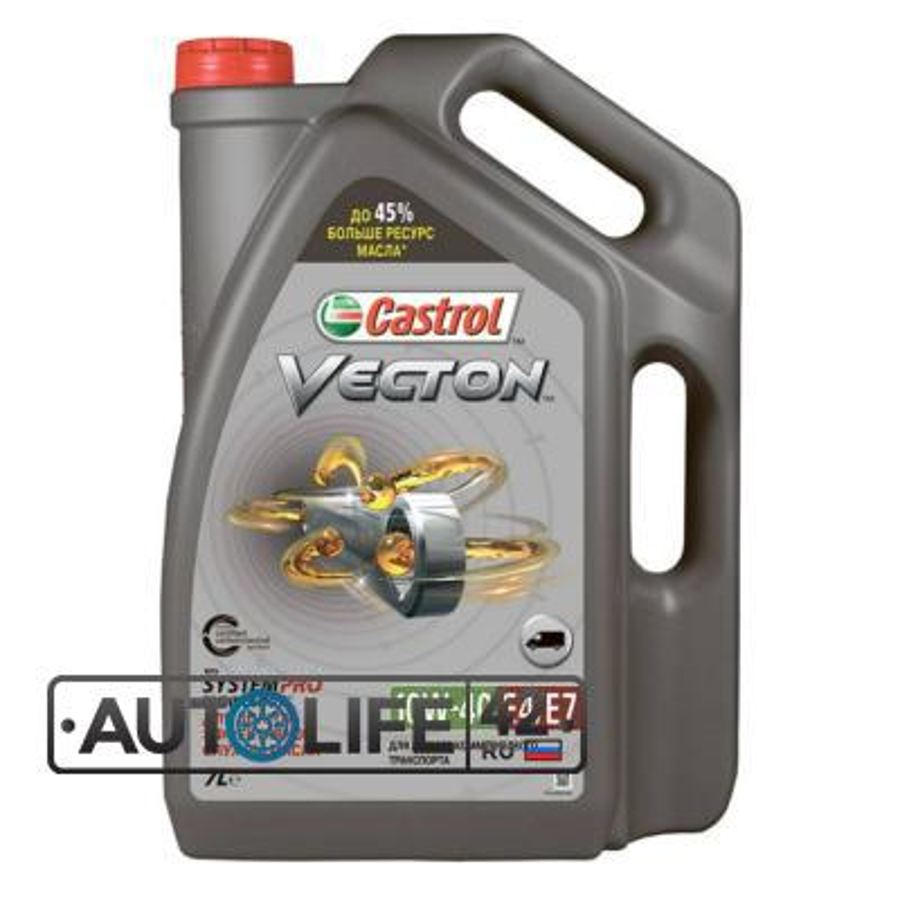 Моторное масло Castrol Vecton 10W-40 E4/E7 полусинтетическое, 7 л