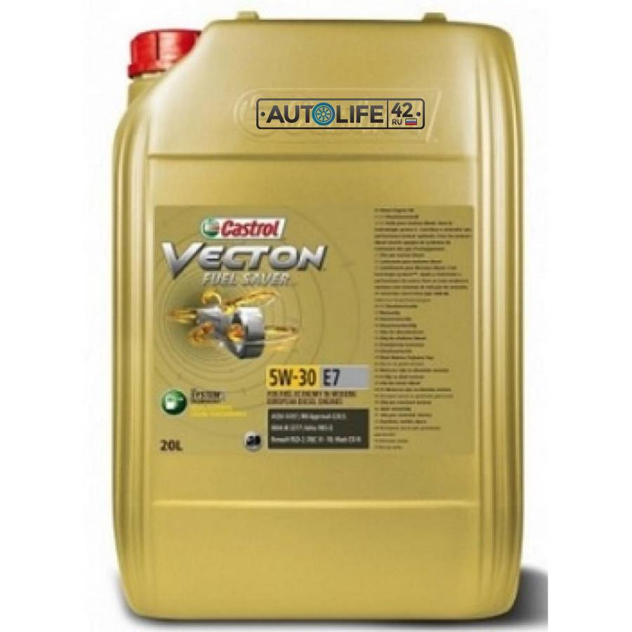 Масло моторное синтетическое Vecton Fuel Saver E7 5W-30, 20л