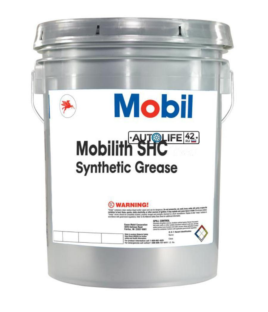 Смазка Mobil  Mobilith SHC 220 пластичная литиевая, 16 кг, NLGI-2 147800 - 1/1 шт.