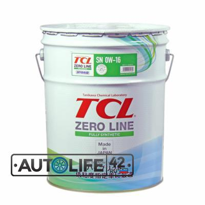 Масло моторное TCL Zero Line Fully Synth, Fuel Economy, SN/RC, 0W16, 20л