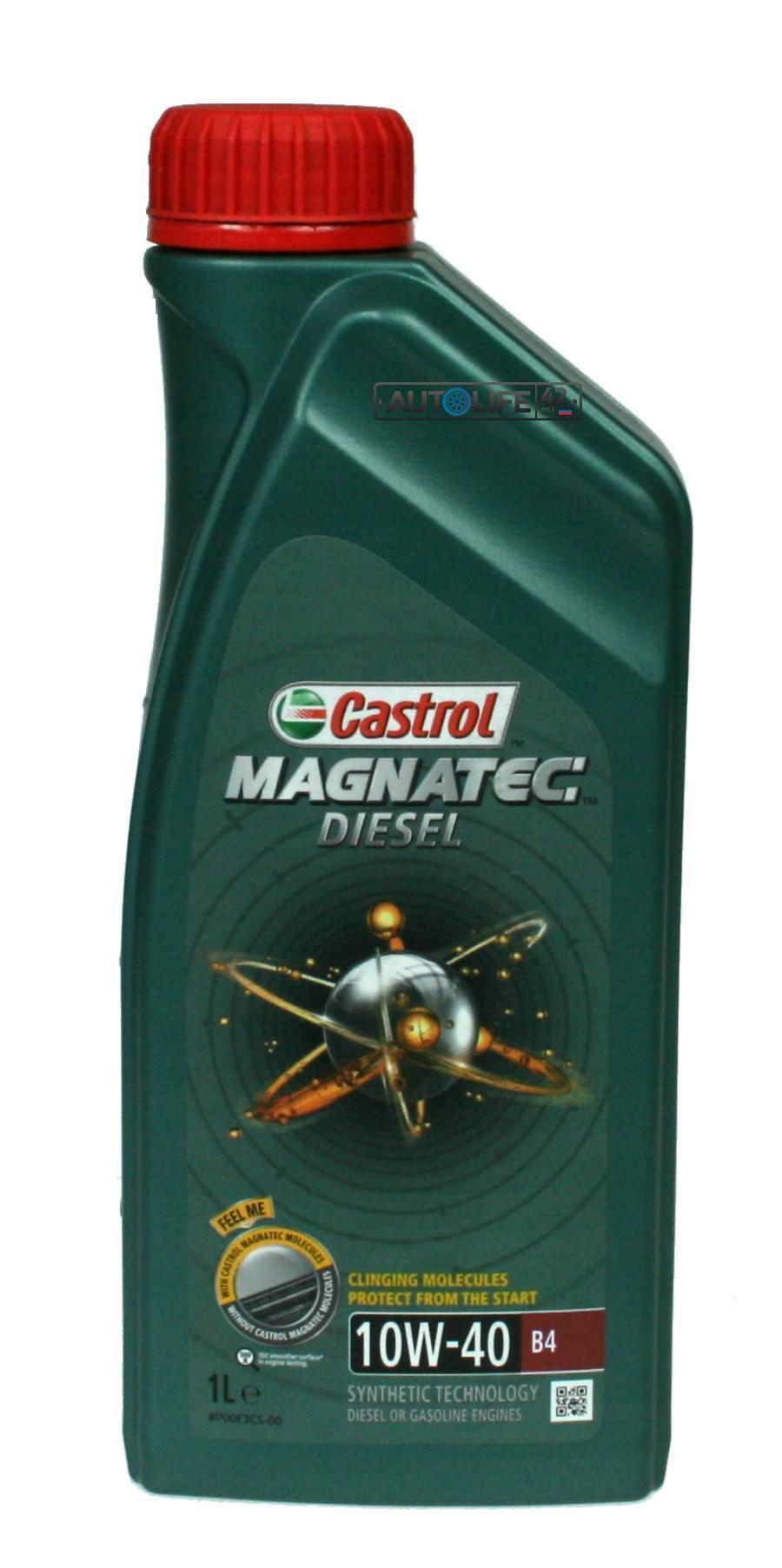 Castrol 10W40 (1L) Magnatec Diesel B4 Dualock_масло моторное (полусинт.)\ ACEA A3/B4, API