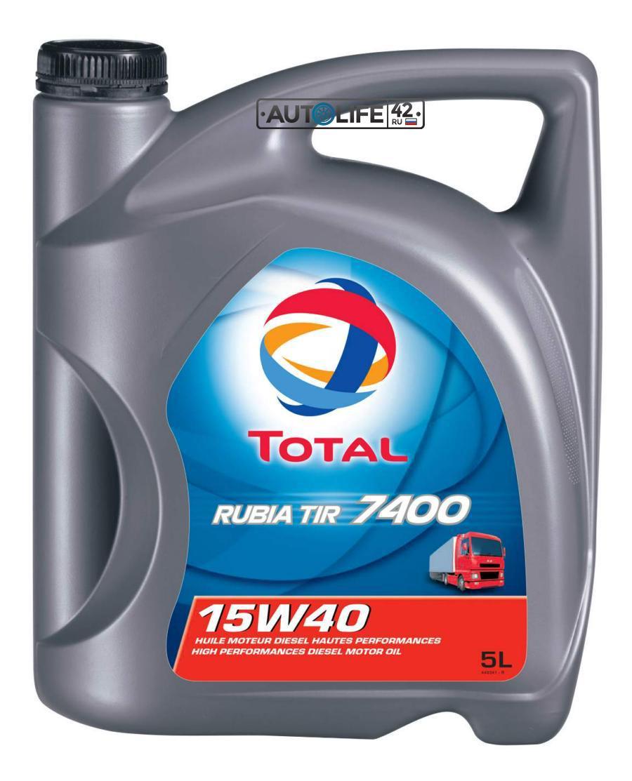 Масло моторное минеральное RUBIA TIR 7400 15W-40, 5л