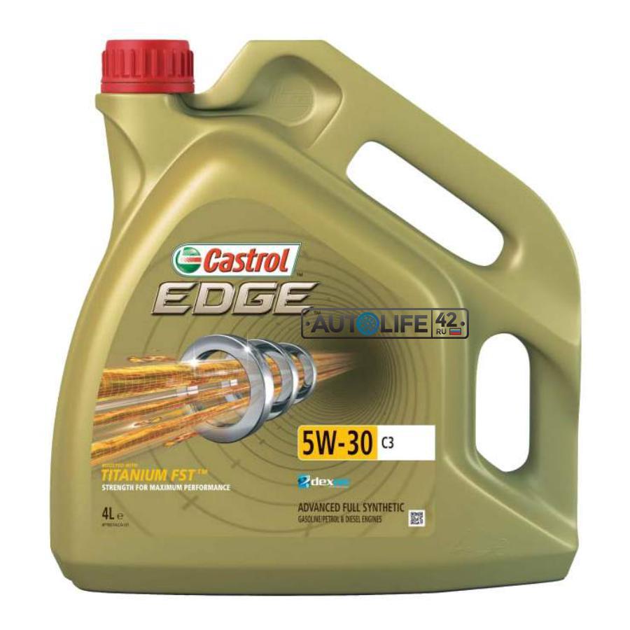 Моторное масло Castrol EDGE 5W-30 C3 синтетическое, 4 л