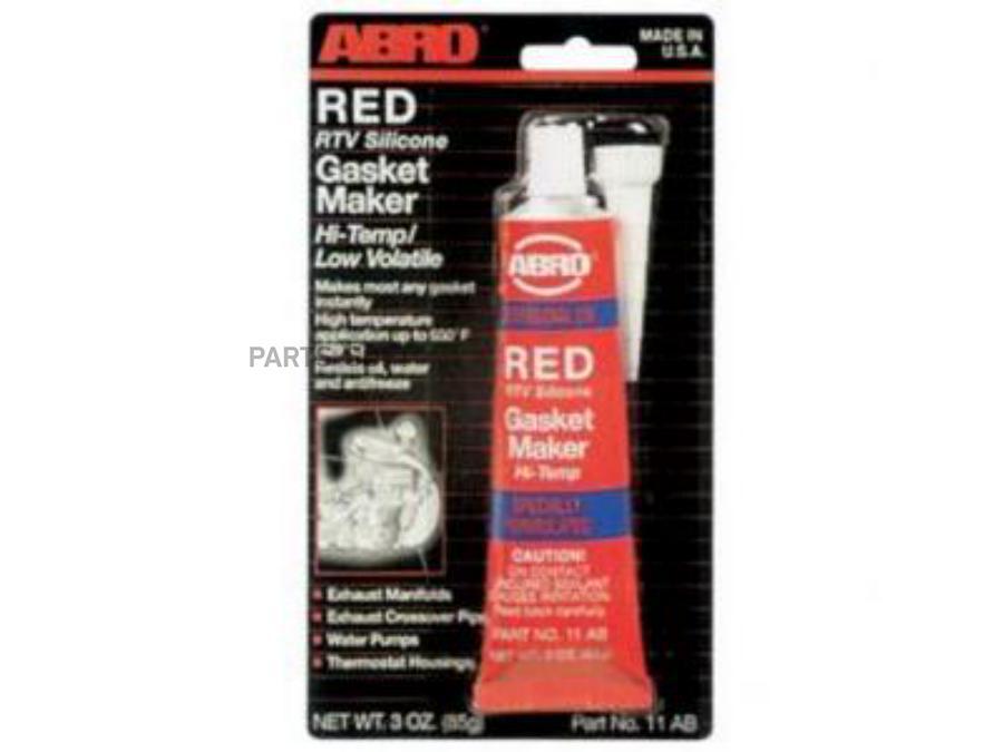 Abro герметик прокладок высокотемпературный красный