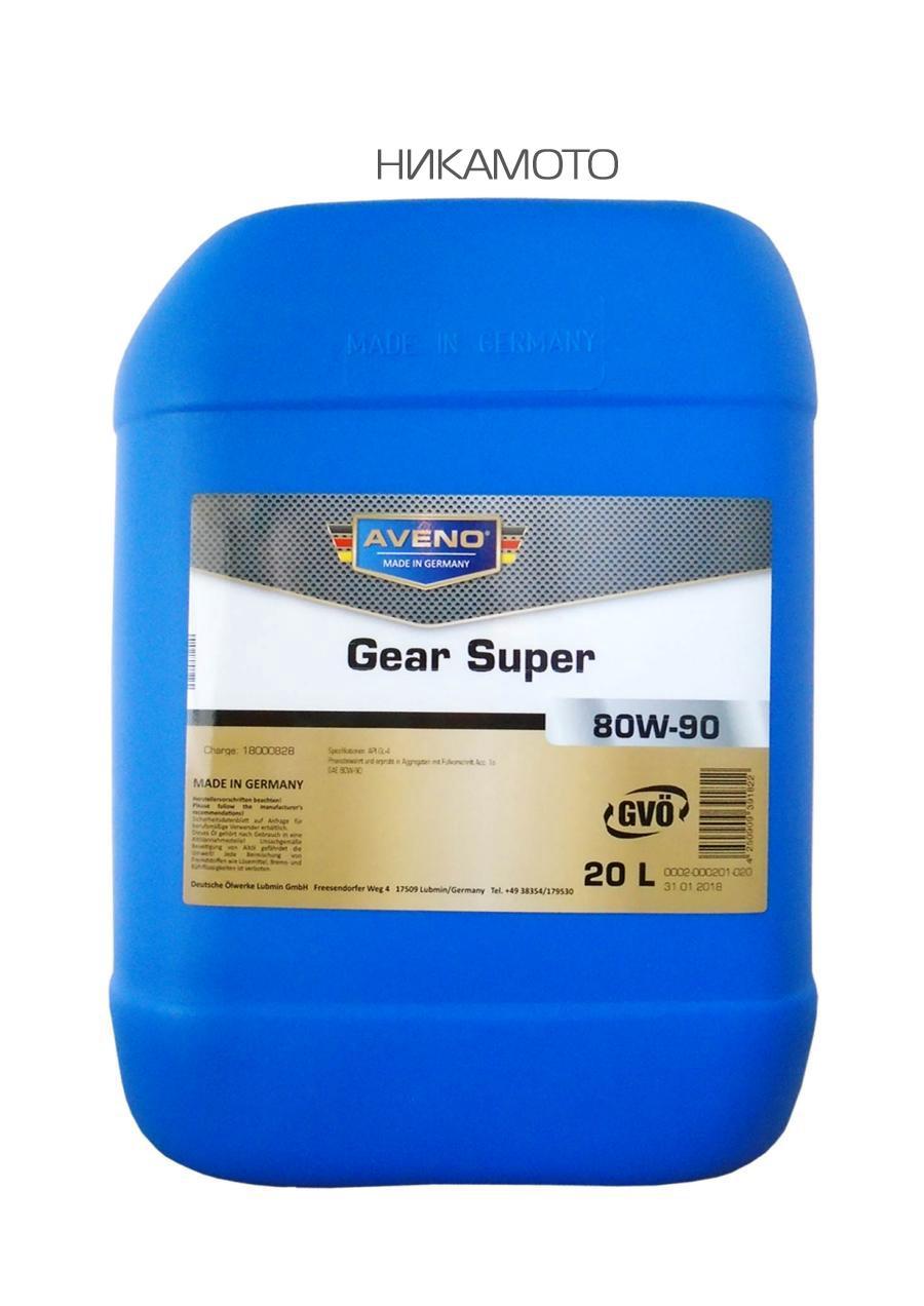 Масло трансмиссионное минеральное Gear Super 80W-90, 20л
