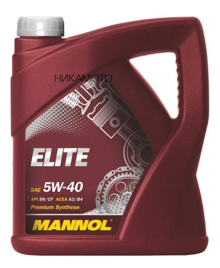 MANNOL    1006 Моторное масло MANNOL Elite Fully Synthetic Motor Oil SAE 5W-40 (4л) (MANNOL 7903 ELITE 5W40 (3+1L Free) АКЦИЯ (синт.моторное масло) API SL/ SF ACEA A3-02/ B3-98#2)