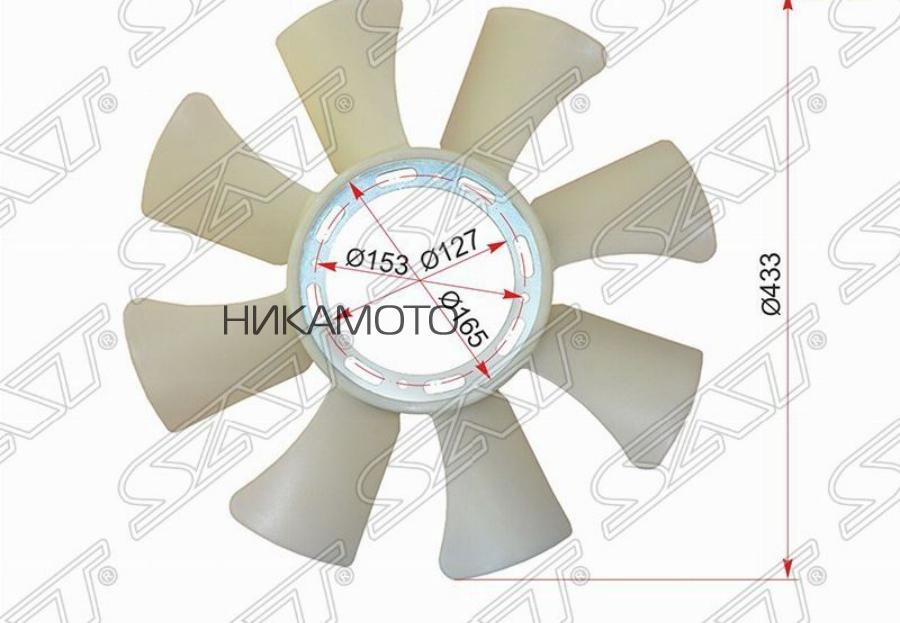 Крыльчатка вентилятора MITSUBISHI CANTER / FUSO 95-06 6D31