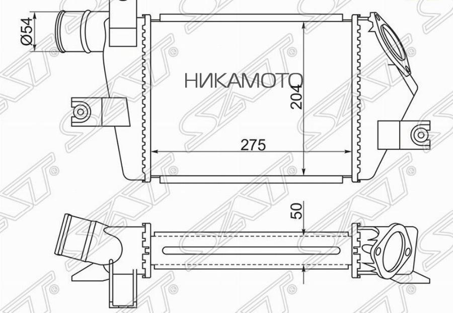 Радиатор интеркулера MITSUBISHI L200 05- / PAJERO / MONTERO SPORT 08