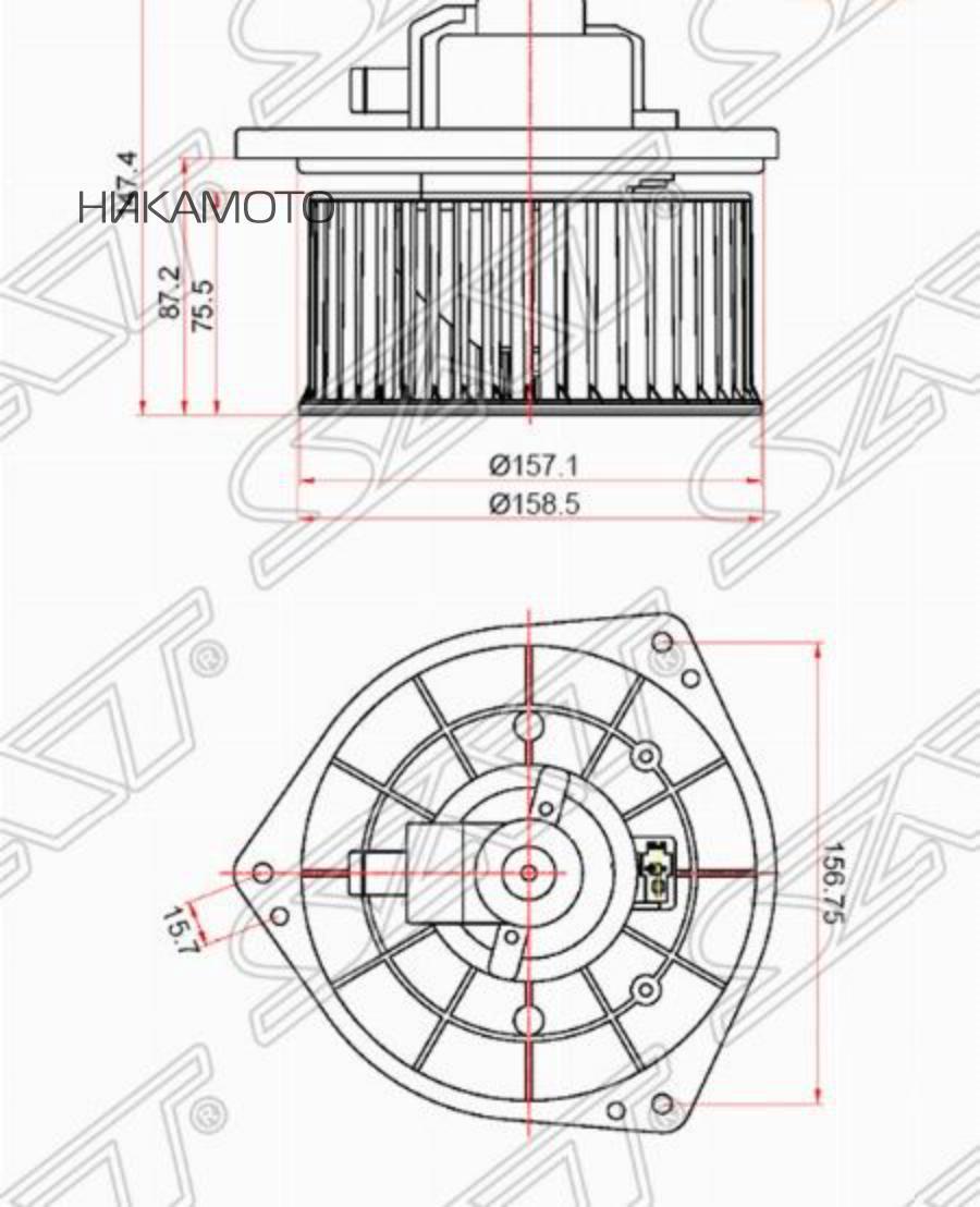 Мотор отопителя салона MITSUBISHI LANCER 00- / AIRTREK / OUTLANDER 01- (LHD)