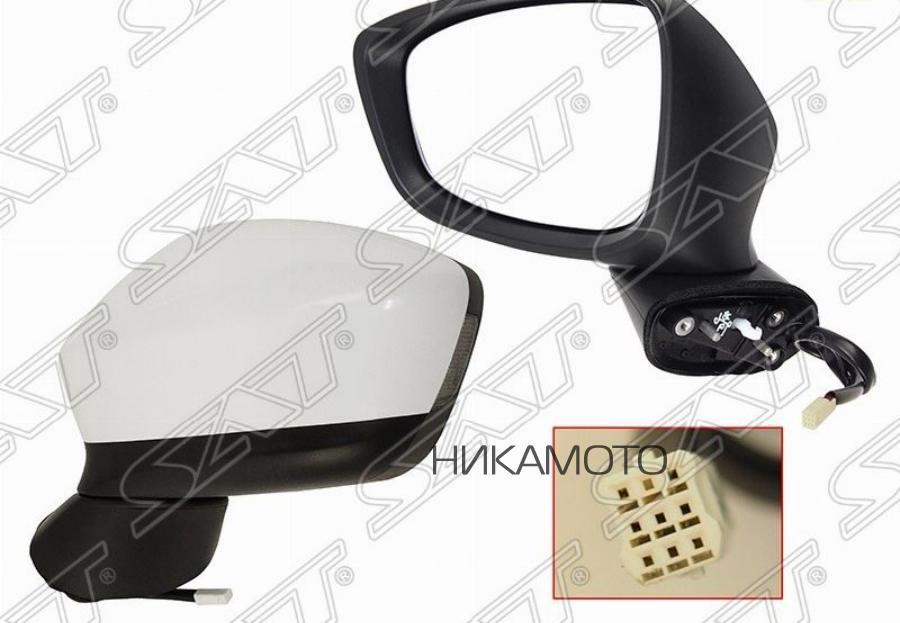 Зеркало MAZDA CX-5 12-14 LH рег-ка, обогрев, поворот, склад., 8конт.