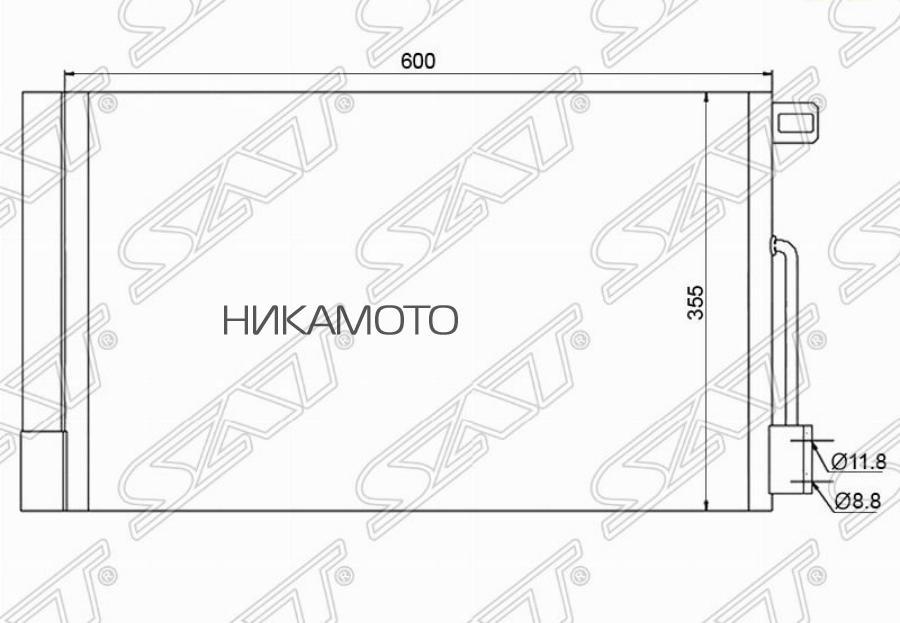 Радиатор кондиционера FIAT GRANDE PUNTO 05-08 / OPEL CORSA D 1.0 / 1.2 / 1.4 / 1.6 07