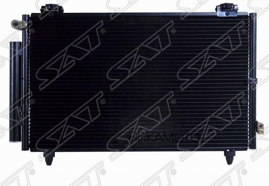 Радиатор TOYOTA Corolla 120 (2000-2006) кондиционера 1,3 (2NZ-FE), 1,4 (4ZZ-FE), 1,6 (3ZZ-FE)