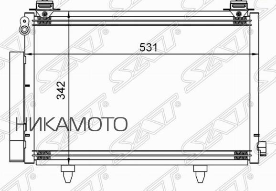 Радиатор кондиционера TOYOTA VITZ / PLATZ / FUN CARGO / IST 99-05