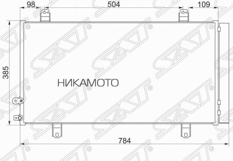 Радиатор кондиционера TOYOTA CAMRY V50 2AR 11-