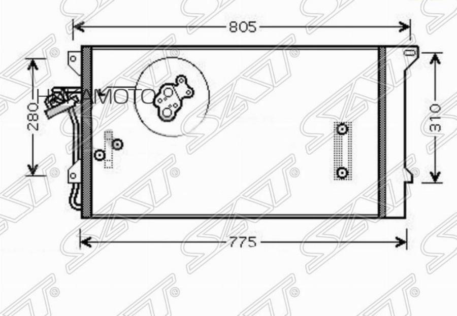Радиатор кондиционера AUDI Q7 / VOLKSWAGEN TOUAREG / PORSCHE CAYENNE 03-10