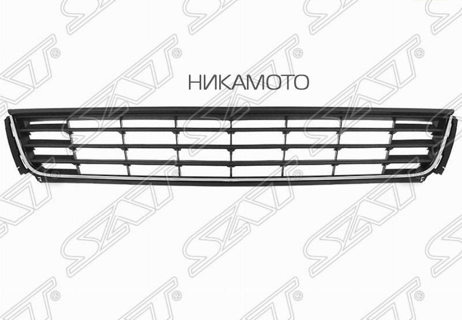 Решетка в бампер VW POLO 10-14 4D с хромом
