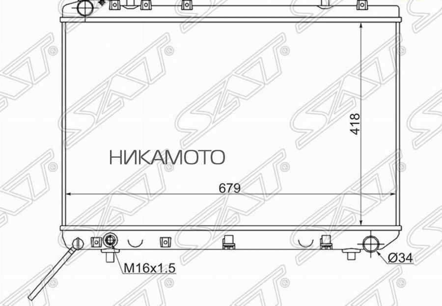Радиатор SSANGYONG KORANDO / TAGAZ TAGER 2.3 / 2.9D MT