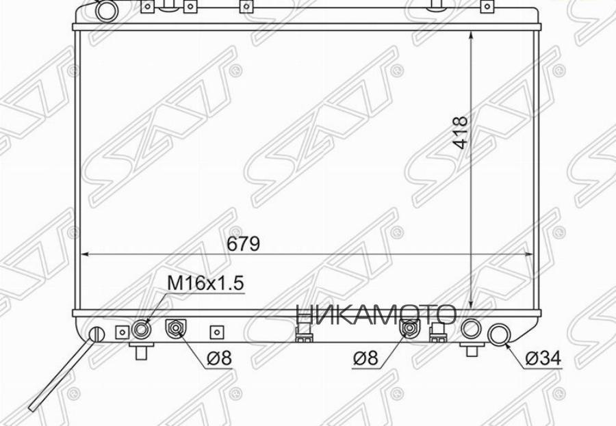 Радиатор SSANGYONG MUSS0 / KORANDO 2.3 / 2.9D / 3.2 94