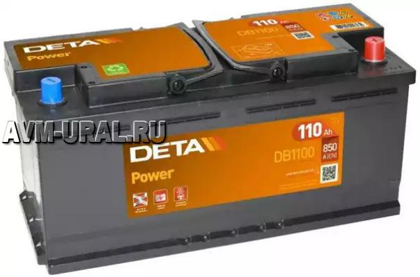 АККУМУЛЯТОР DETA POWER 12 V 110 AH 850 A ETN 0(R+)