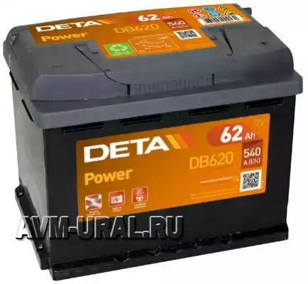 АККУМУЛЯТОР DETA POWER 12 V 62 AH 540 A ETN 0(R+)