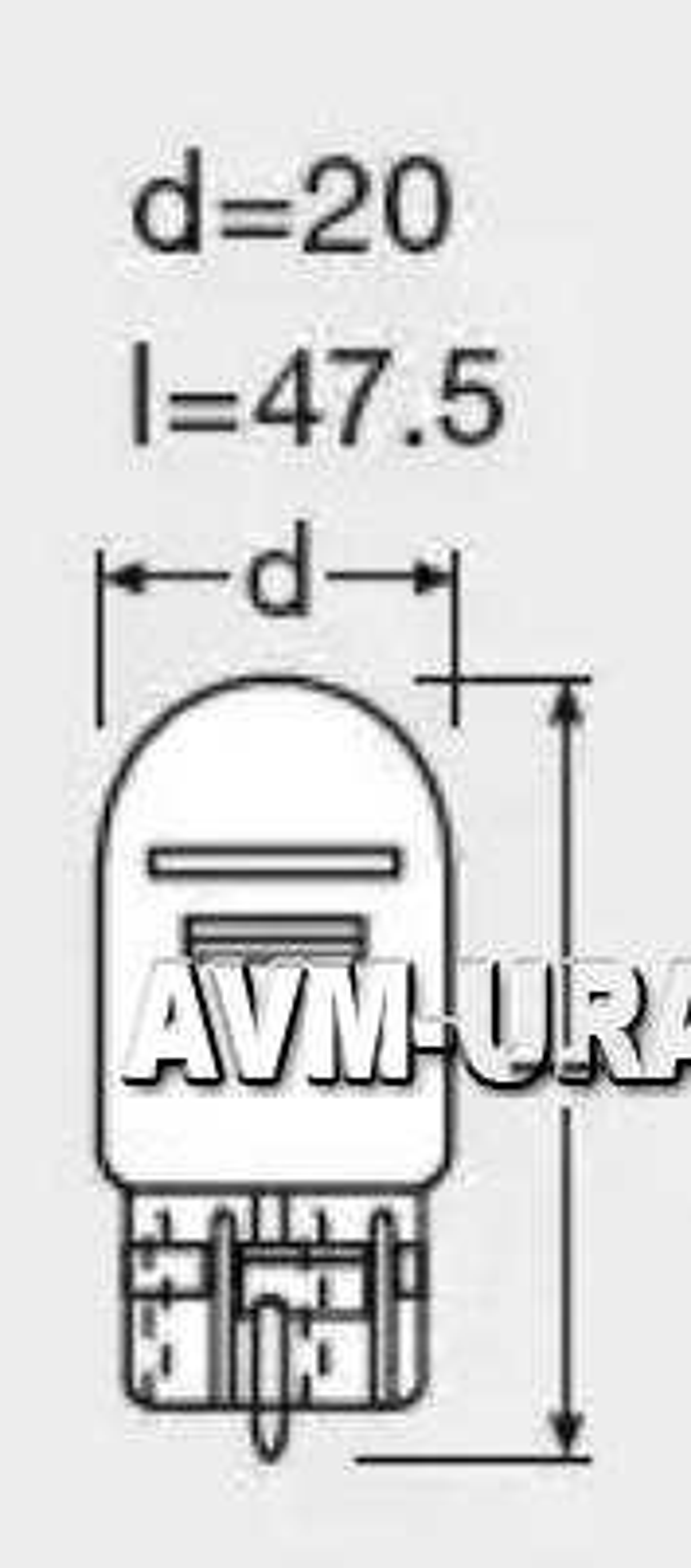 Лампа 12V OSRAM 7515