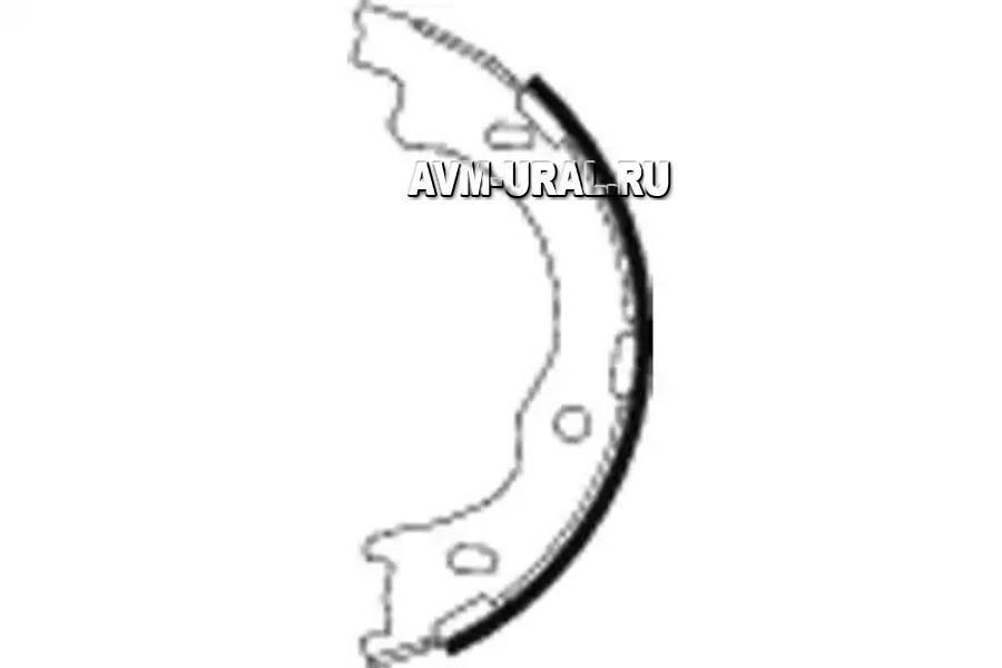 Колодки задние барабанные TEXTAR 91068100