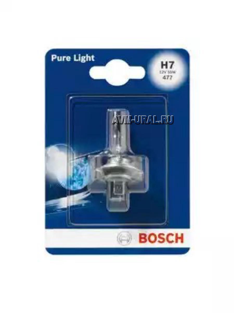 Лампа H7 BOSCH 12V 55W (блистер)
