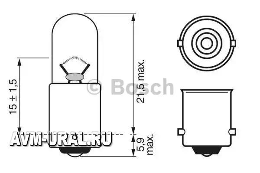 Лампа T4W 12V
