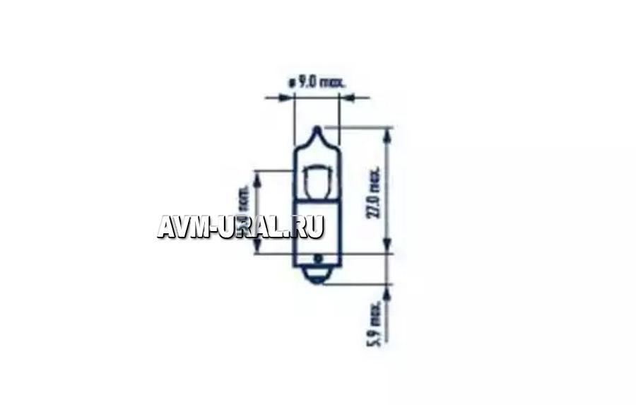 Лампа 12V 6W NARVA (цоколь)