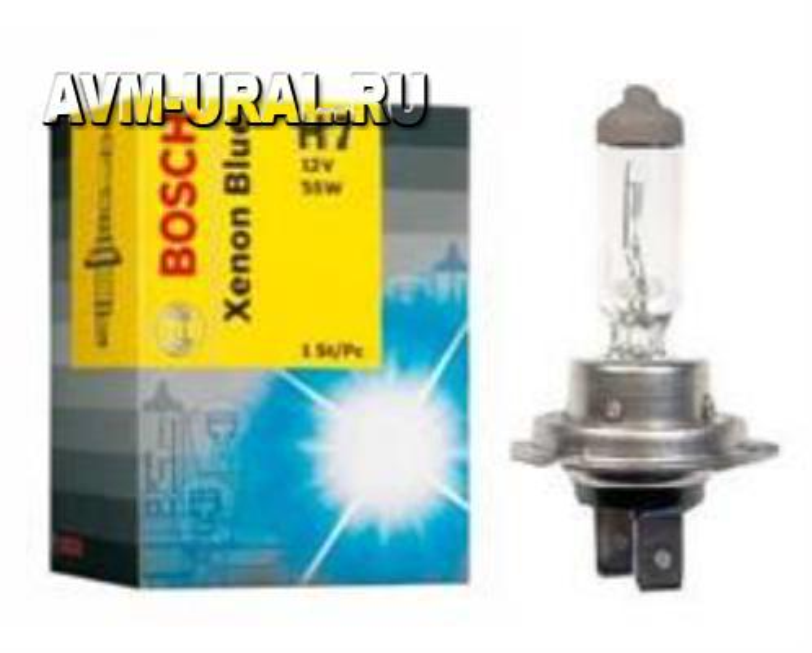 Лампа галоген Xenon Blue H7 12В 55Вт