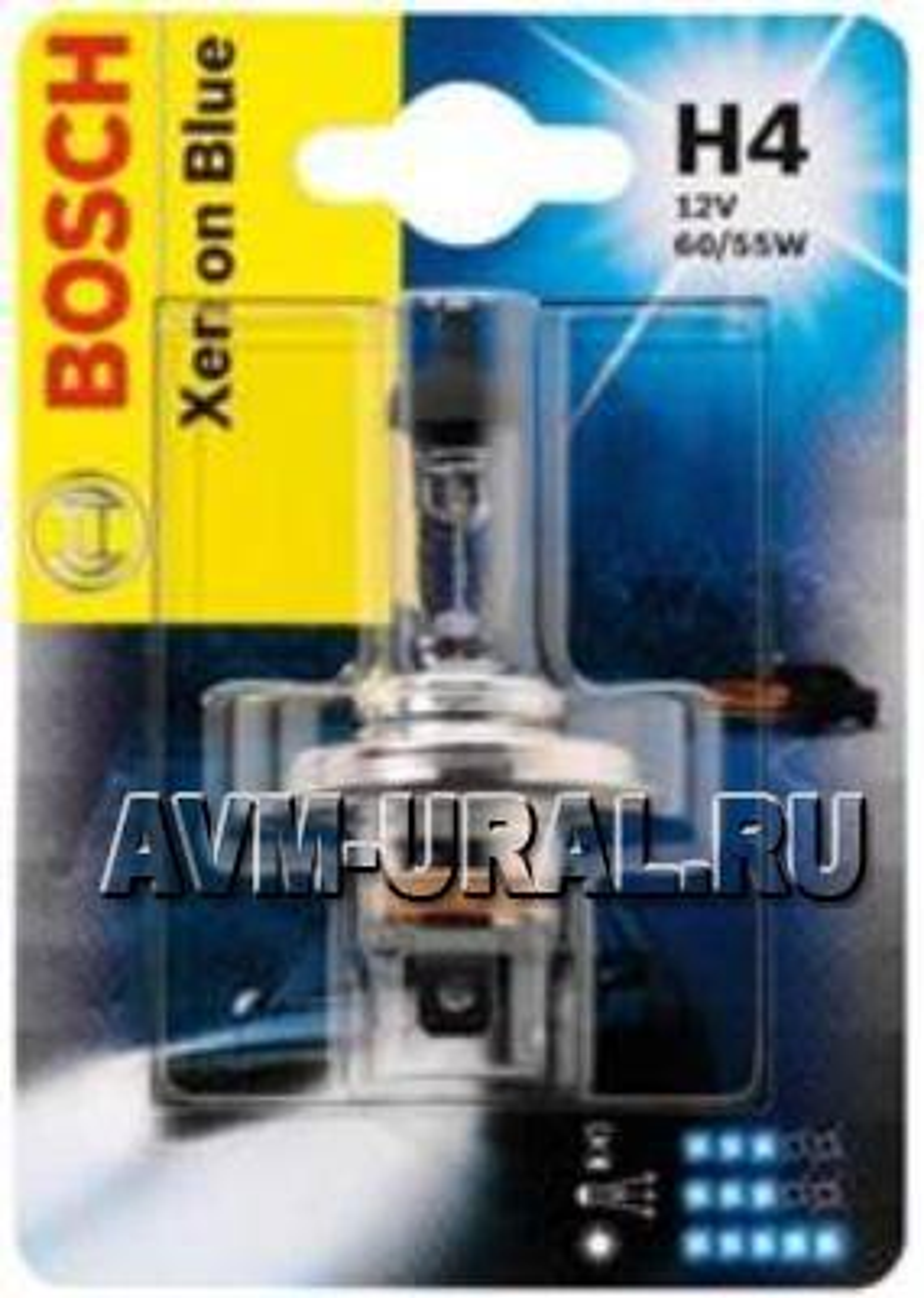 Лампа галоген Xenon Blue H4 12В 60/55Вт