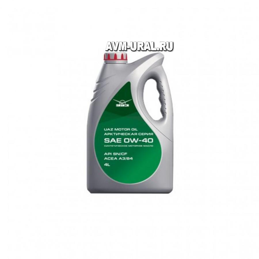 Масло UAZ motor oil 0w-40; нк.4л УАЗ 000000473405400