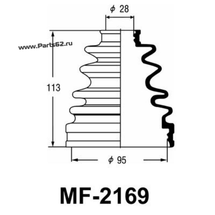 """Привода пыльник """"Masuma"""" MF-2169"""