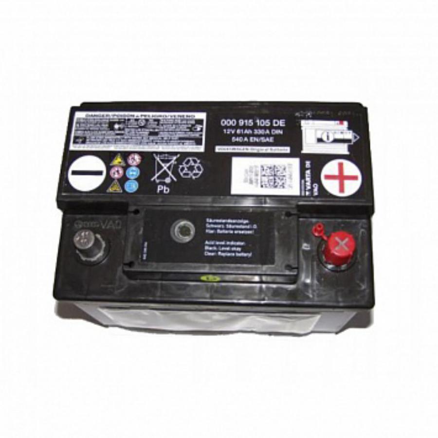 Аккумулятор VAG STANDART 61 А/ ч обратная R+ EN 330A, 242x175x190 000 915 105DE VAG 000915105DE