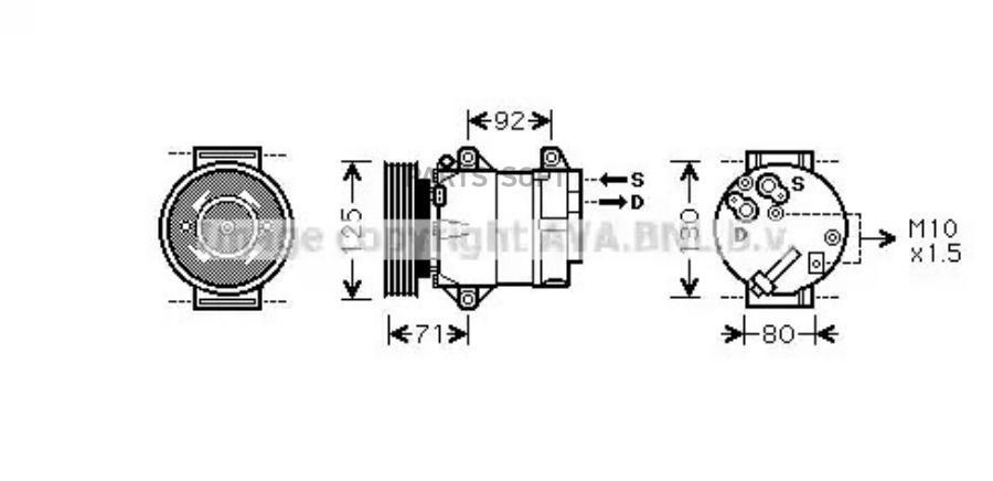 Компрессор кондиционера NISSAN ALMERA II (N16) 03-06,ALMERA II Hatchback (N16) 03-06,QASHQAI / QASHQAI + MSG AC0074