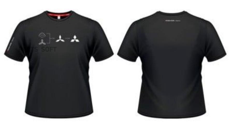 Мужская футболка Mitsubishi Men's T-Shirt History Black