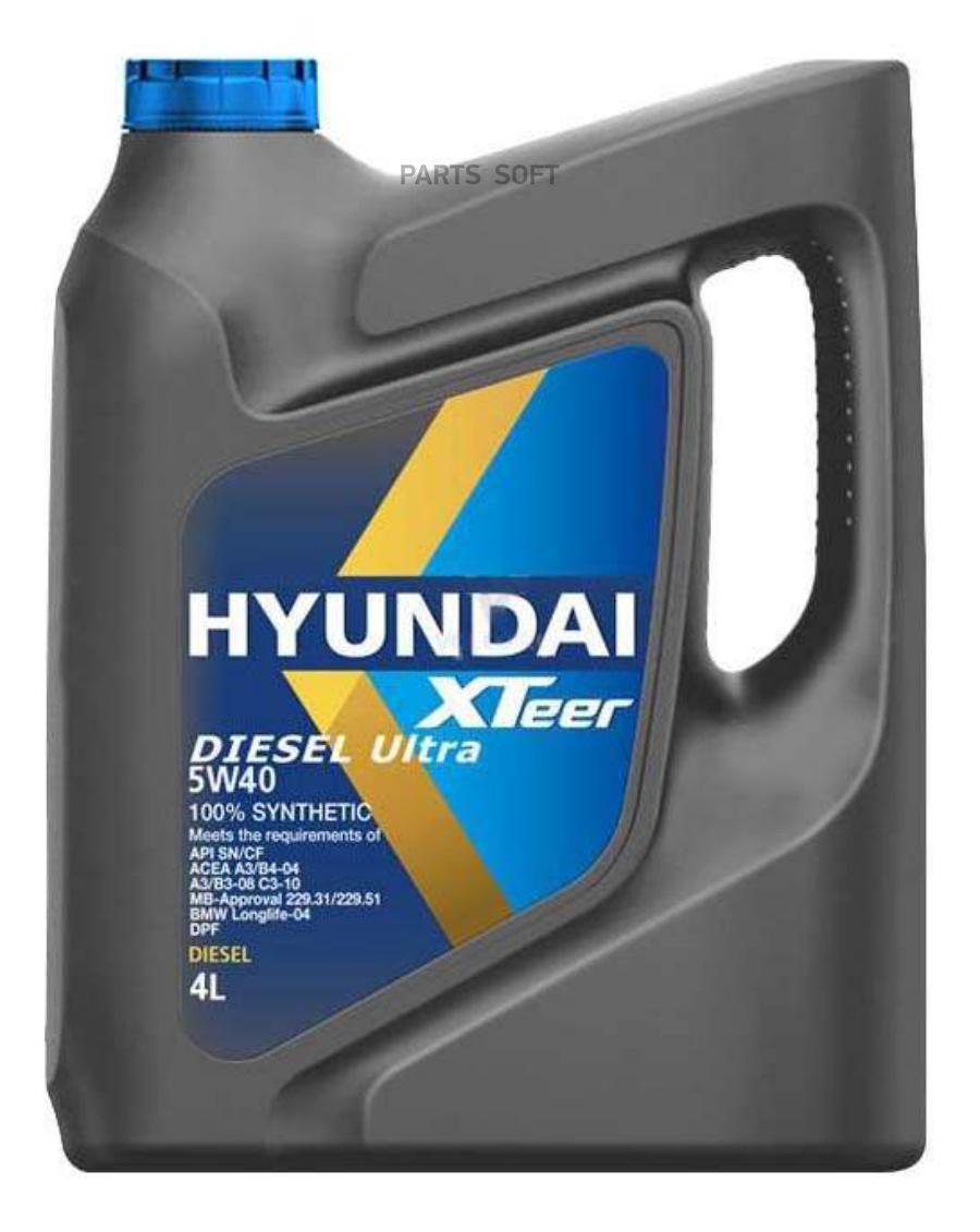 Моторное масло HYUNDAI-KIA Diesel Ultra 5w40 4л 1041223