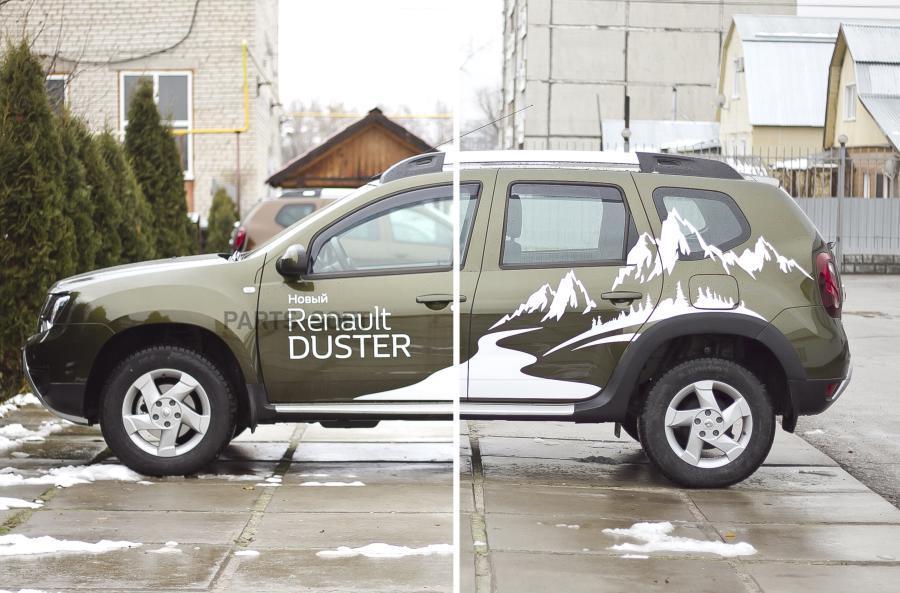 Расширители колесных арок (4 шт.) для Renault Duster 2015-