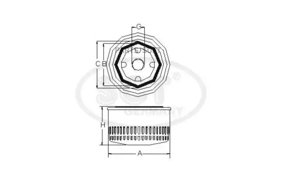 Масляный фильтр, производитель SCT (SM101), купить в Воронеже - Voil.ru