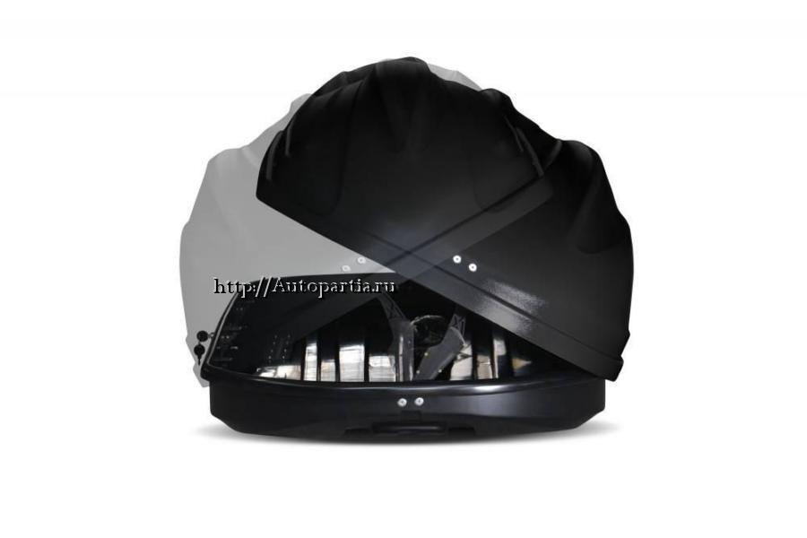 Автобокс на крышу Черный Turino Compact (360 л) Аэродинамический с двусторонним открыванием