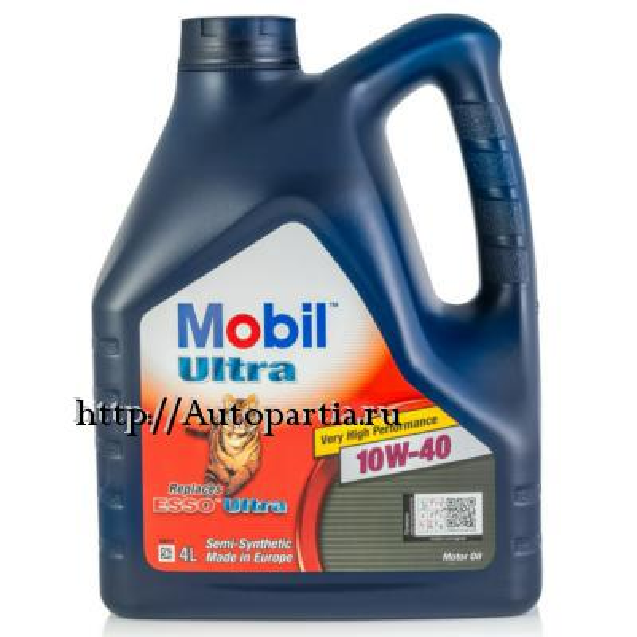 Масло моторное  MOBIL ULTRA 10W-40, 4л x 2 (8 литров)