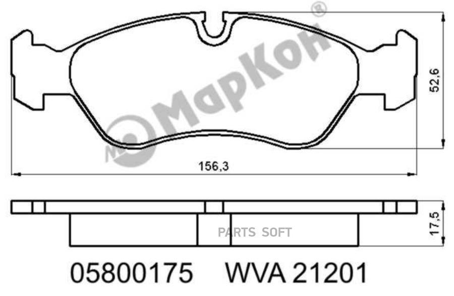 Колодки передние тормозные NEXIA Markon