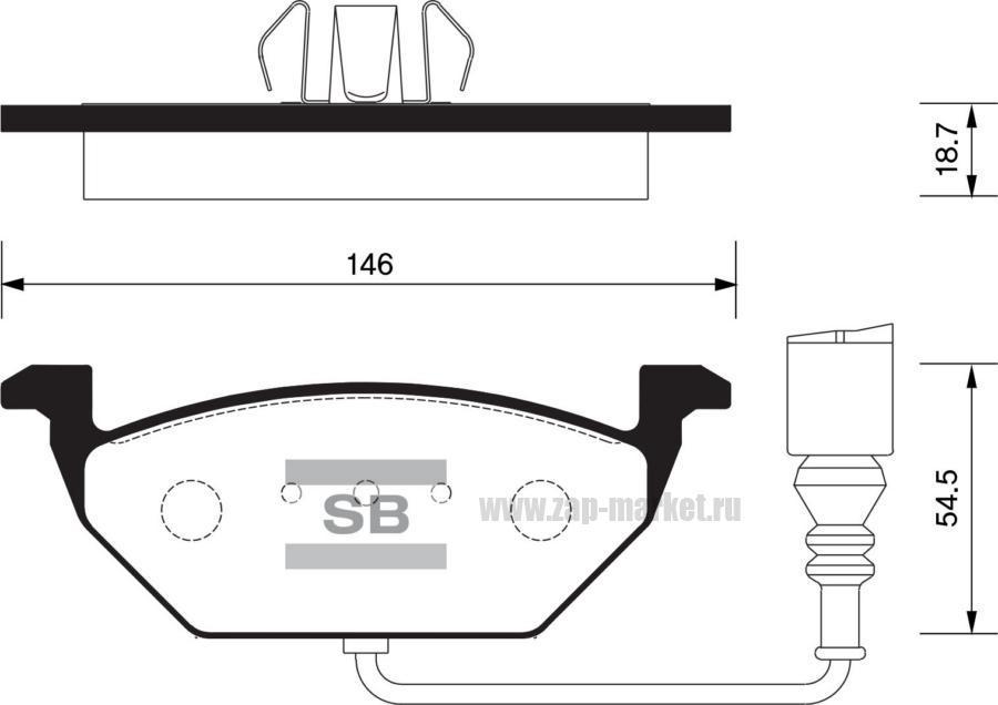 Колодки торм. AUDI/SEAT/SKODA/VW перед.к-т