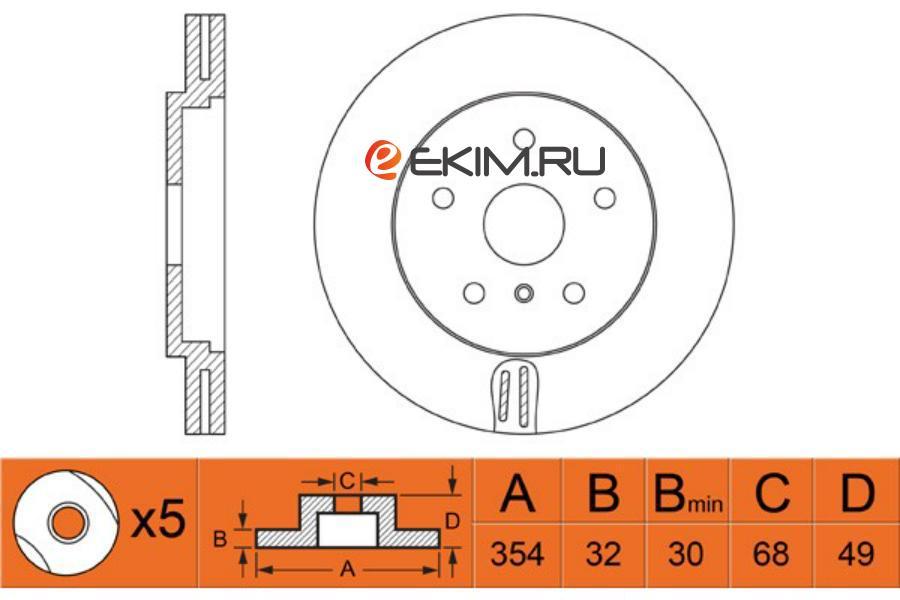 Диск тормозной FR INFINITI QX70/FX35/37/50 08- /G35/37 09-/NISSAN 370Z