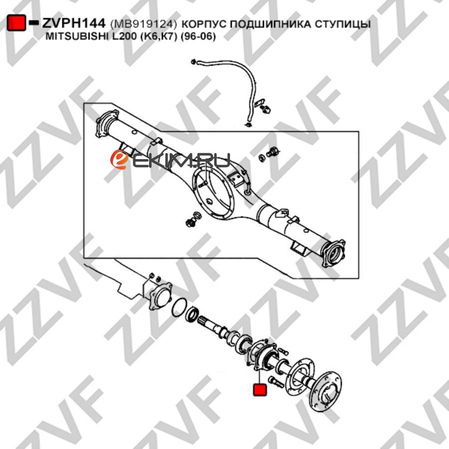 КОРПУС ПОДШИПНИКА СТУПИЦЫ MITSUBISHI L200 (K6,К7) (96-06)