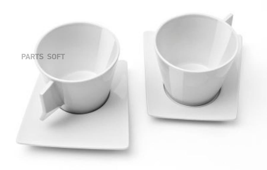 Набор из двух чашек для капучино Skoda Cappuccino set 2 pieces White